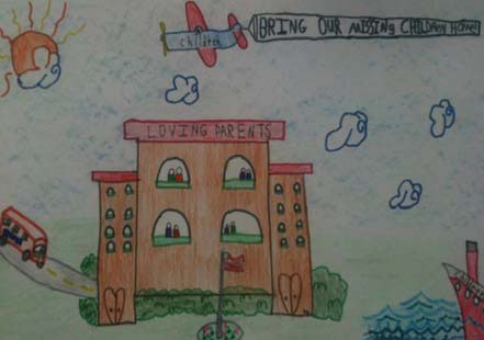Ryley Parker's winning artwork for the TBI's 2011 Missing Children Poster Contest